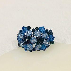 Woven Beaded Flower Ring